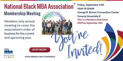 NBMBAA® Membership Meeting