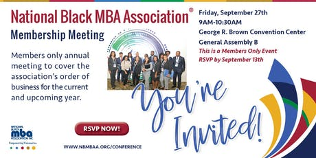 NBMBAA® Membership Meeting tickets