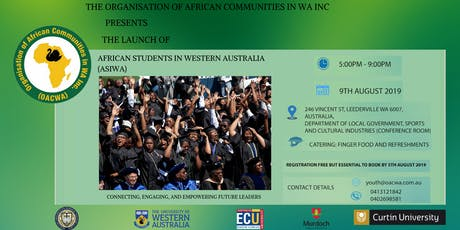 LAUNCH: African Students in Western Australia (ASIWA) Department tickets