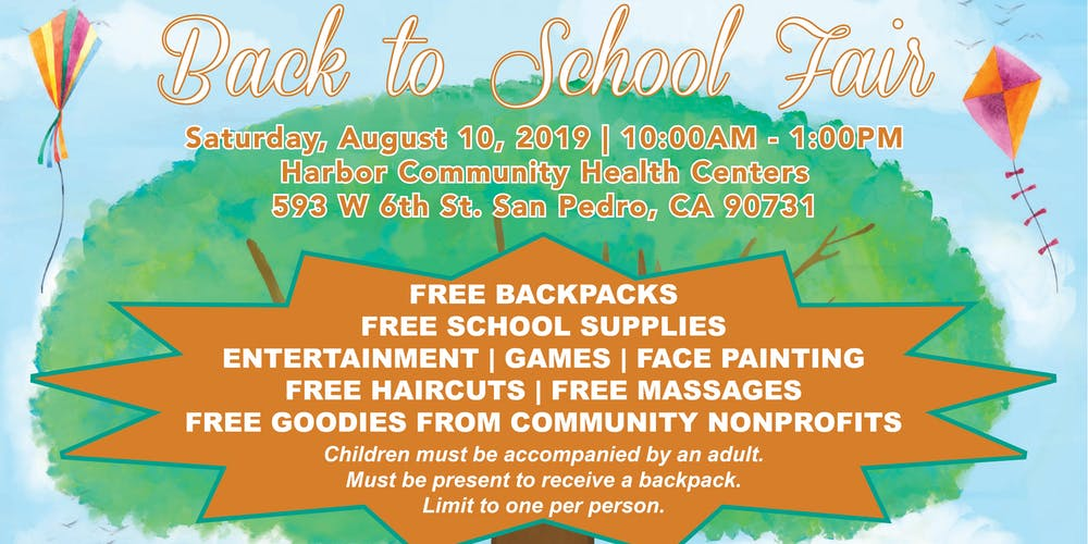 Back to School Fair! Free Backpack and School Supply