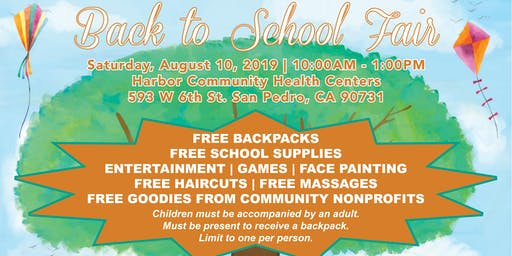 Back to School Fair! Free Backpack and School Supply Giveaway
