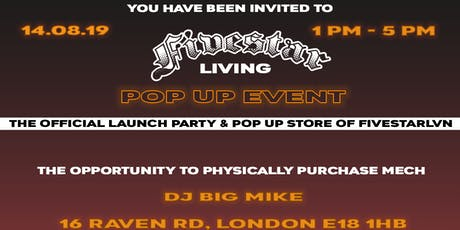 Fivestar LVN Official Launch Party & Pop Up Store tickets