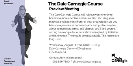 Dale Carnegie Course® - Preview Meeting (Mississauga) tickets