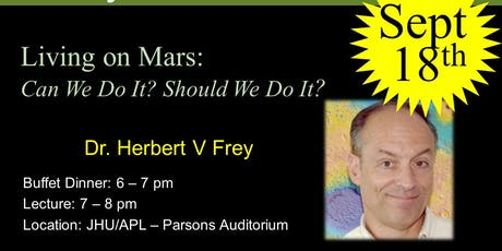 Living on Mars: Can We Do It? Should We Do It? tickets