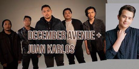 December Avenue + Juan Karlos LIVE! (VIP with meet & greet) tickets