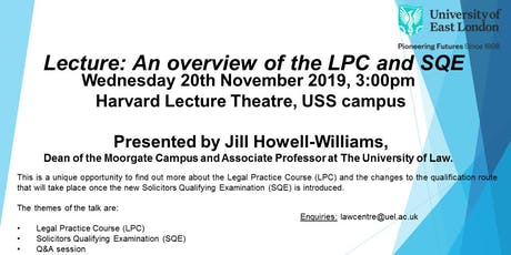 Lecture: An overview of the LPC and SQE tickets