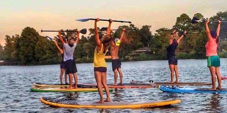 Sunset SUP Yoga & Wine Tasting: Awakening Your Senses with Vino Vinyasa & Movement Goddess tickets