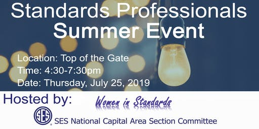 SES National Capital Area Section and Women in Standards Summer Event