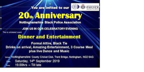 Notts BPA 20th Anniversary tickets
