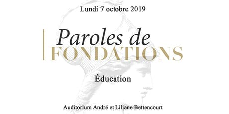 Paroles de Fondations - Éducation tickets