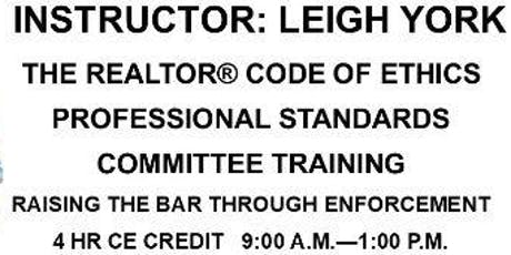 CE-Professional Standards Committee Training tickets