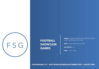 Football Showcase Games | U11Showcase Game tickets