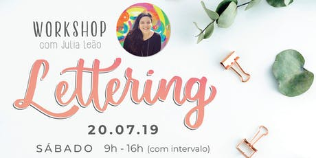 Workshop de Lettering para iniciantes - a partir de 15 anos ingressos