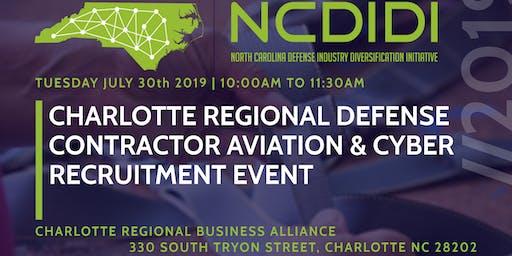 CHARLOTTE REGIONAL DEFENSE CONTRACTORAVIATION & CYBER RECRUITMENT EVENT