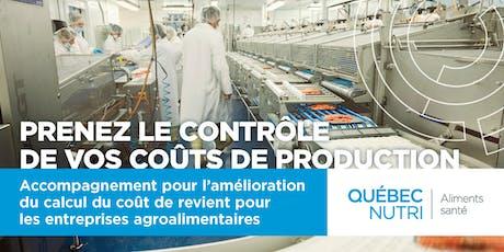 Accompagnement pour l'amélioration du calcul du coût de revient pour les entreprises agroalimentaires billets