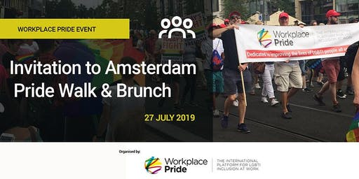 Workplace Pride Event: Amsterdam Pride Walk & Brunch 2019