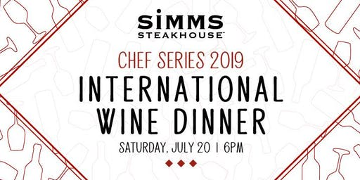 International Wine Dinner - Chef Series 2019