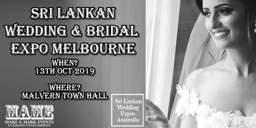 Sri Lankan Bridal & Wedding Expo Melbourne - Oct 2019