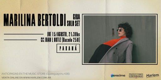 Marilina Bertoldi (solo set) en Paraná