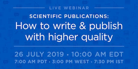 Scientific Publications: How to write & publish with higher quality tickets