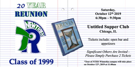 New Trier High School - Class of '99 - 20 Year Reunion tickets