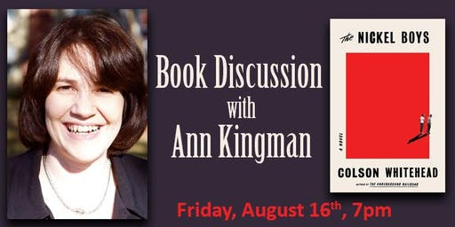 Book Discussion with Ann Kingman