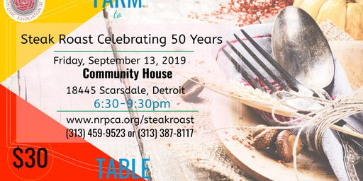 NRPCA's Farm to Table Steak Roast Fundraiser Dinner
