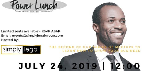 Power Lunch – Business Basics for Small & Solo Law Firms tickets