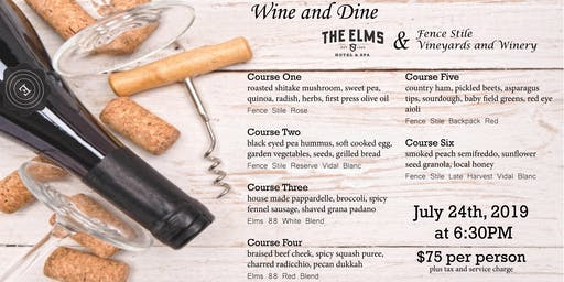 Swirl, Smell, Sip, Eat and Repeat at The Elms Hotel  Wine and Dine!