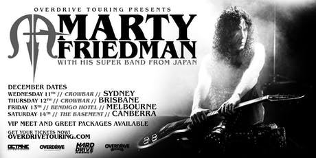 MARTY FRIEDMAN - Canberra tickets
