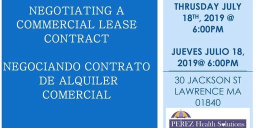 NEGOTIATING A COMMERCIAL LEASE CONTRACT