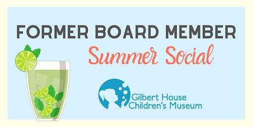 Former Board Member Summer Social
