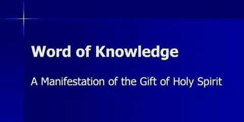 Prophetic Training: Understanding The Word of Knowledge - Part 1