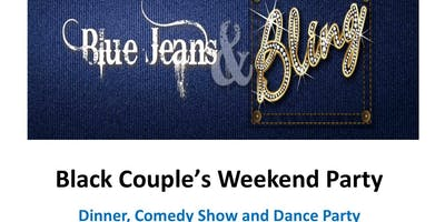 Black Couple Weekend Party - Blue Jeans & Bling