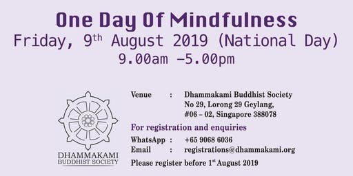 One Day of Mindfulness 2019