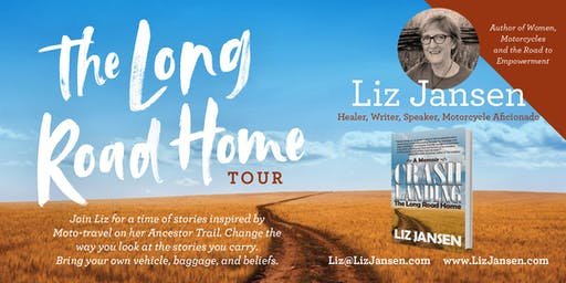 Liz Jansen Long Road Home Book Tour—Island Motorcycle Company