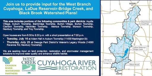 West Branch Cuyahoga, LaDue Reservoir-Bridge Creek, and Black Brook Watershed Plans Open House 1