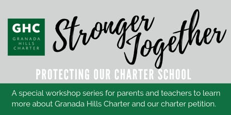 Stronger Together: Protecting our Charter School tickets