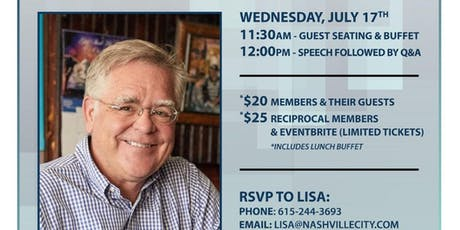 Speaker Series 2019-Metro Councilman and Mayoral Candidate John Cooper tickets
