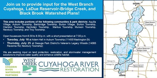 West Branch Cuyahoga, LaDue Reservoir-Bridge Creek, and Black Brook Watershed Plans Open House 2