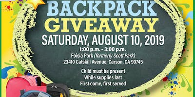 2019 Community Backpack Giveaway