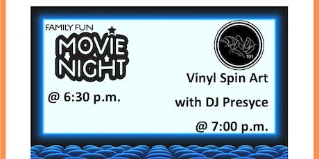Kirkwood Family Fun Movie Night & Vinyl Spin Art with DJ Presyce  tickets
