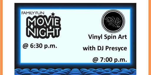 Kirkwood Family Fun Movie Night & Vinyl Spin Art with DJ Presyce