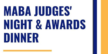 MABA JUDGES' NIGHT & AWARDS DINNER tickets