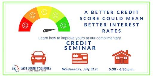 Better Credit Score Seminar