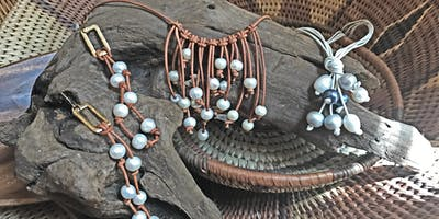 Pearl and Leather Jewelry Class