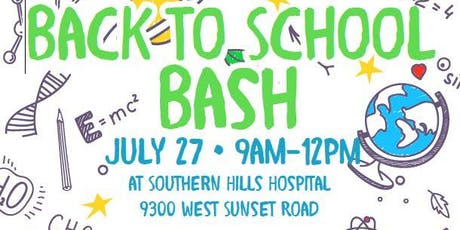 Back to School Bash at Southern Hills Hospital tickets