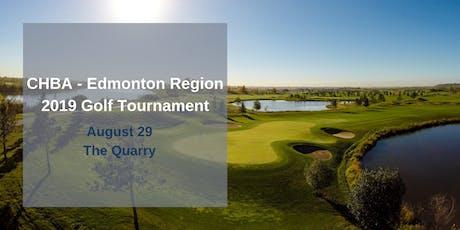 CHBA - Edmonton Region 2019 August Golf Tournament tickets