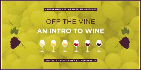 Off the Vine: An Intro to Wine tickets
