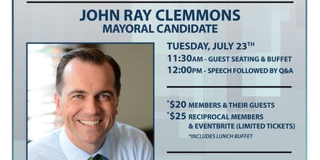 Speaker Series 2019-State Representative and Mayoral candidate John Ray Clemmons tickets